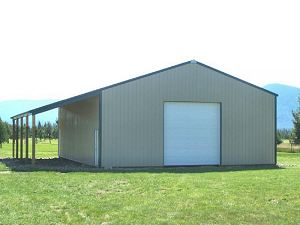 30x50 pole shed home joy studio design gallery best design for Rv boat storage buildings