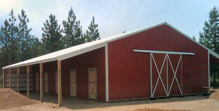 Metal Building Horse Barns